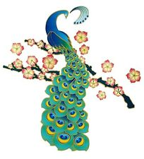 Main Street Wall Creations Wall Dresser Removable Jumbo Sticker Floral  Peacock