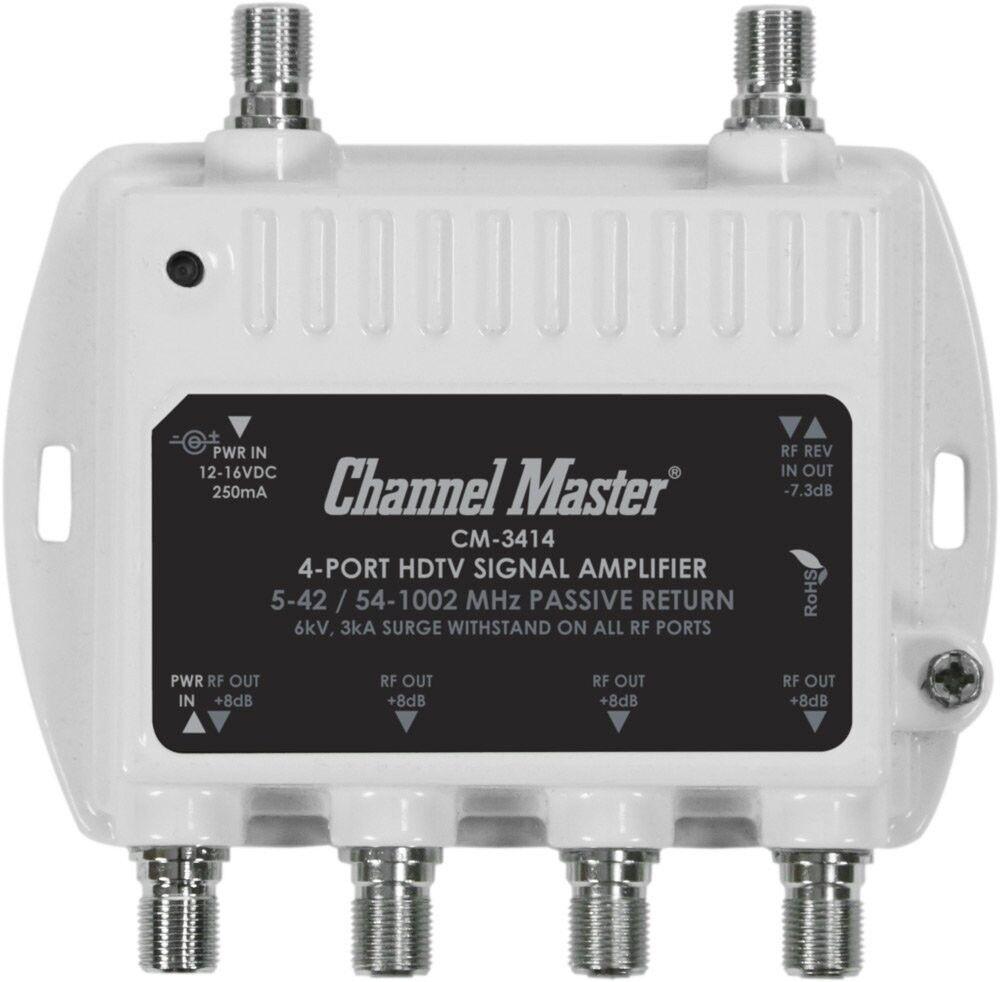 CM-3414 topbargain68 Hdtv Antenna Signal Amplifier Booster Digital Tv Catv Mini Distribution Cable