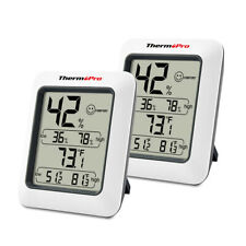 2pcs Lcd Digital Indoor Thermometers Hygrometer Room Temperature Humidity Meter