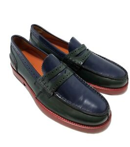 NEW-TOMMY-HILFIGER-COLLECTION-MEN-039-S-MULTI-COLOR-LOAFERS-42-9-645