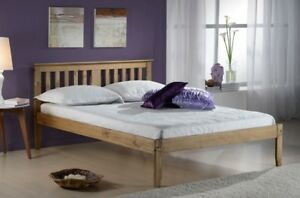 Salvador 4ft Small Double Traditional Wooden Bed Frame Waxed