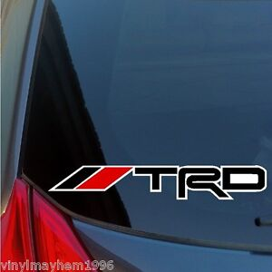 Two-TRD-Racing-Development-sticker-decal-Toyota-IS350-celica-tundra-supra-fr-s