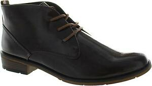 Marco Tozzi 2-25120-39 Women's Ribbed Lace Up Walking Low Heel Ankle Boots New