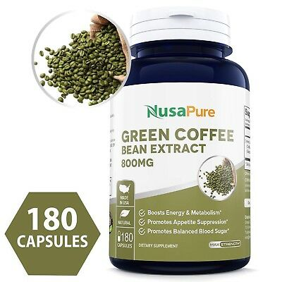 Nusapure Best Green Coffee Bean Extract 800mg 180caps Non Gmo