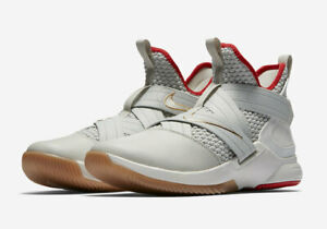 huge discount 1f248 df489 Image is loading NIKE-LEBRON-SOLDIER-XII-BASKETBALL-SHOES-LIGHT-BONE-