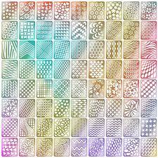 Mudder Nail Vinyls Stencil Stickers Set, 24 Sheets 72 Different Designs Cute Art
