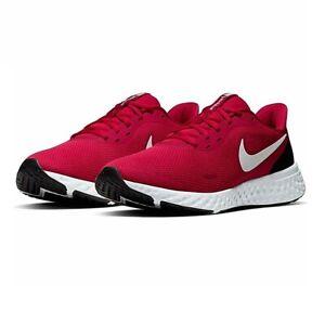 Scarpe-Uomo-Nike-Revolution-5-Sneakers-Sportive-Running-Rosso-Bianco-Nero-Red