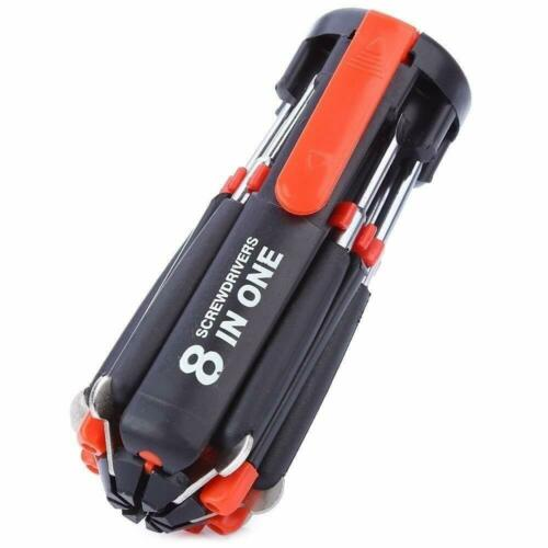 8 in 1 Multifunction Screwdriver Tool Set with Super Bright LED Torch Flashlight