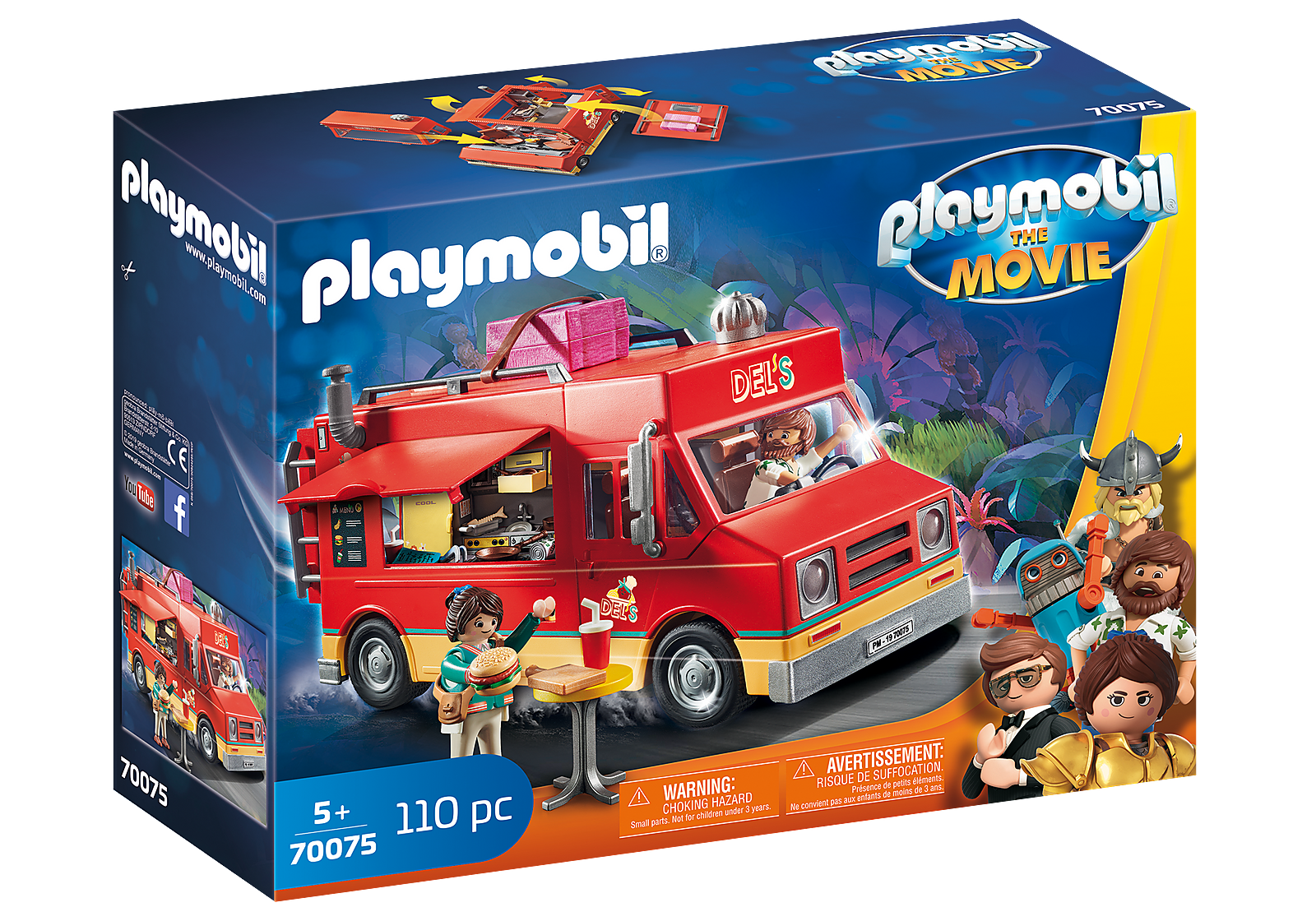 GENUINE   PLAYMOBIL  The Movie - Del's Food Truck 70075 Tracked P&P