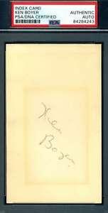 Ken-Boyer-PSA-DNA-Coa-Autograph-Hand-Signed-3x5-Index-Card
