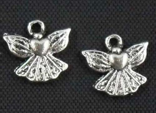 Wholesale 37//81Pcs Tibetan Silver (Lead-Free)Angel Charms 23x13mm