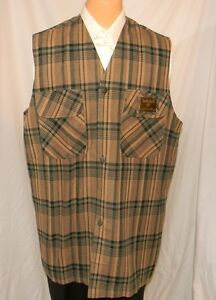 Timberland-Plaid-Vest-Unlined-Unstructured-48-XXL