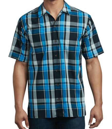 """Dickies Men/""""s Shirt Icon Yarn Dyed Camp Relaxed Fit All Color WS550 From L To 6X"""