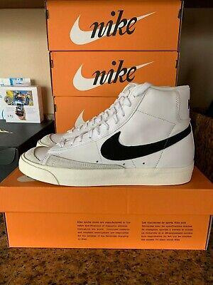 Details about Nike Blazer Mid 77 Vintage White Black BQ6806-100 NEW 7/7.5/9.5/10/10.5/11/12