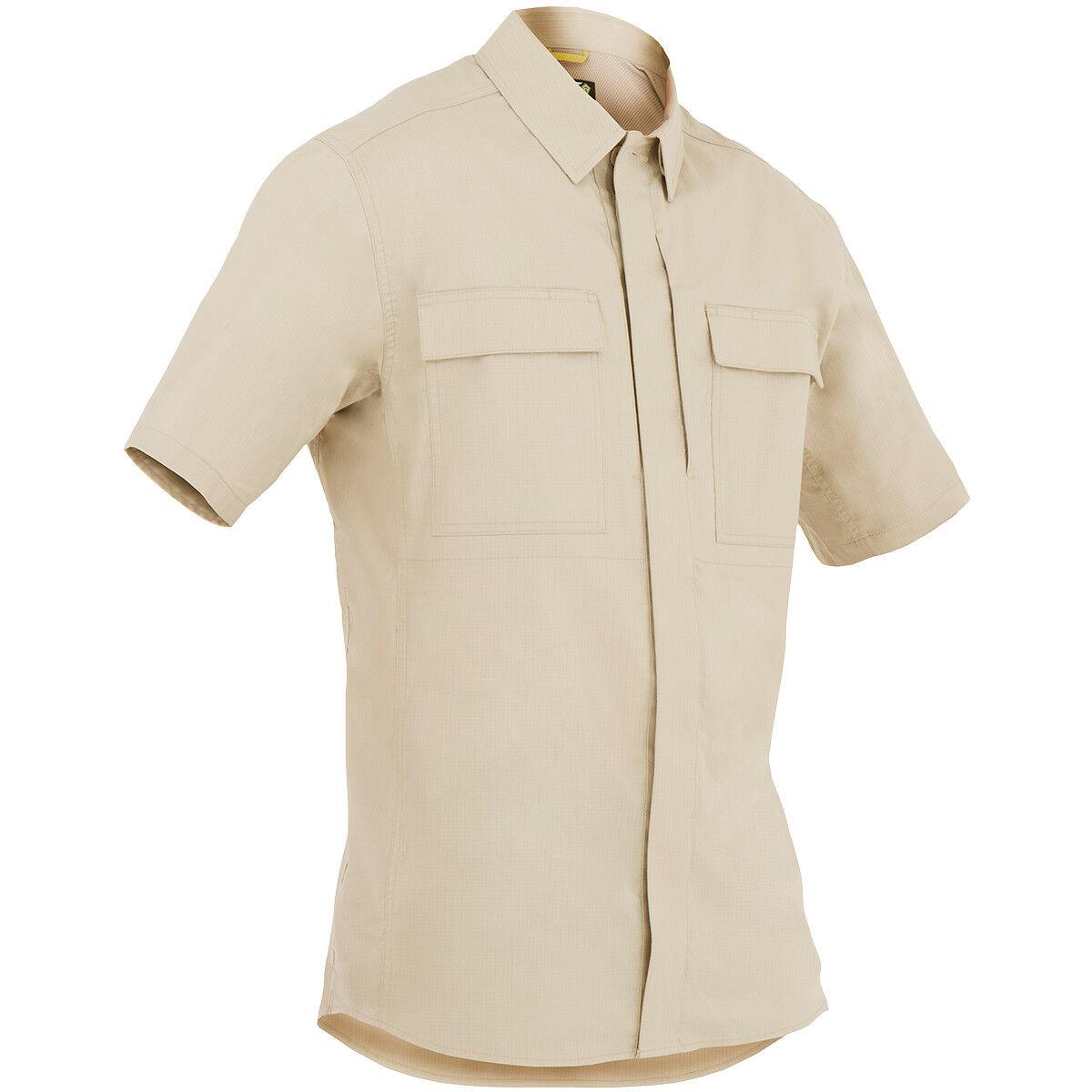 First Tactical Mens Specialist Short Sleeve BDU Shirt Army Patrol Uniform Khaki