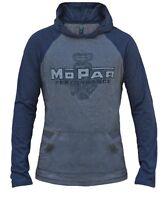 Mopar Performance Vintage Engine Hooded Long Sleeve T-shirt Shirt Navy Xl
