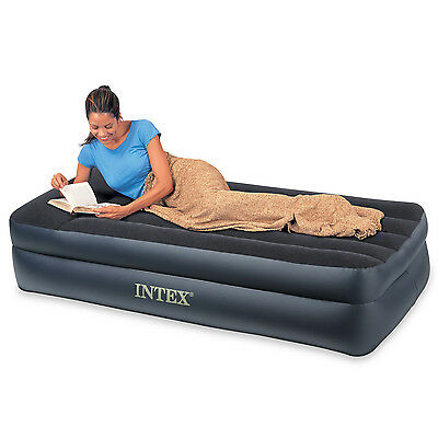 Intex Single Size Pillow Rest Raised Airbed Air Mattress 66721