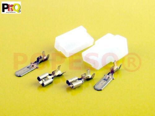 1 pcs x Kit câbles Chaussures 6.3 mm 2 Broches Avec Boîtier #a430