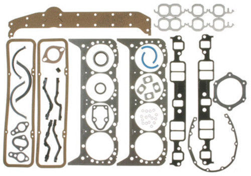 Chevy 350 Engine Kit MOLY Rings+Double Row Timing+HV Oil Pump+Bearings 1969-79