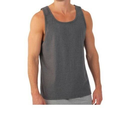 01719ae8926bf Fruit of The Loom Big Men s Charcoal Heather Tank Top Size 3xl (54 56)