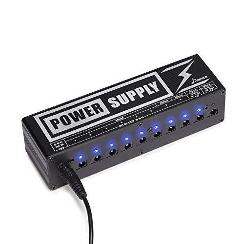 DP-2 Guitar Pedal Power Supply High Current 10 Isolated DC Output For 9V 12V 18V