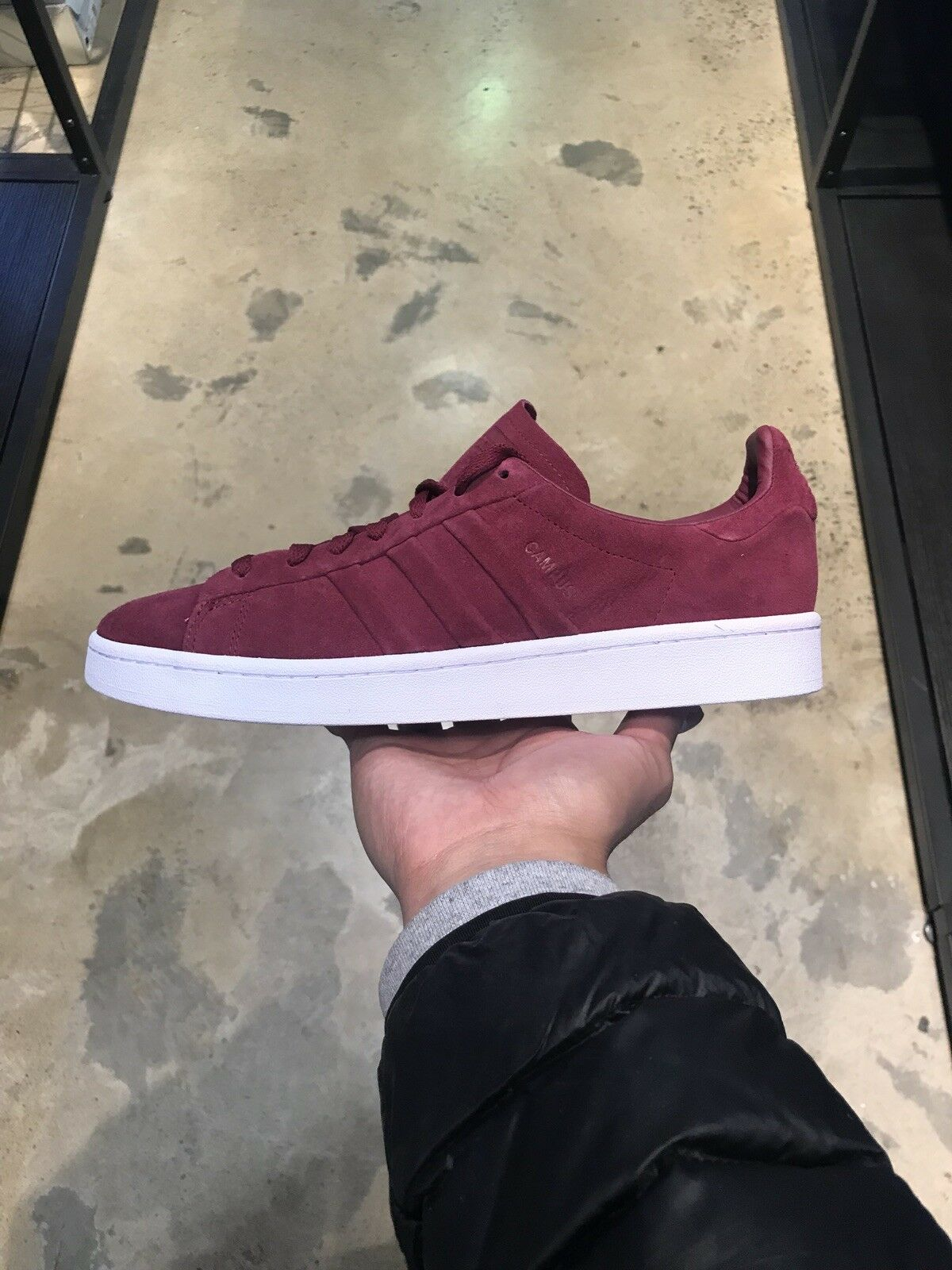 ADIDAS CAMPUS MAROON SUEDE SHOES SIZE US 8 NEW COMMON PROJECT STAN SMITH GAZELLE