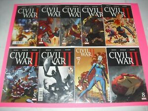 Civil-War-II-0-8-complete-series-set-all-VF-NM-2016-Marvel-2-6-7-are-variant