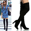 Womens-Ladies-Thigh-High-Over-The-Knee-Boots-Stiletto-Heel-Lace-Up-Shoes-Sz-3-8