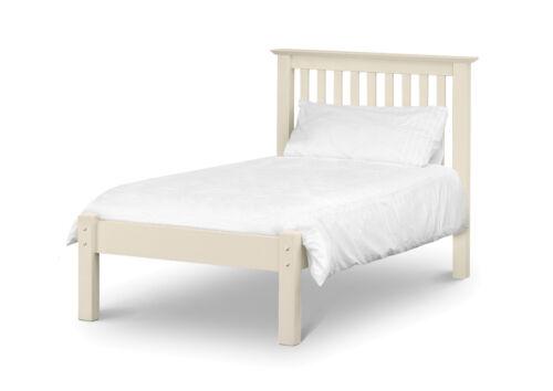 Julian Bowen Barcelona 90cm Single 3ft White Low Foot End Bed Frame New