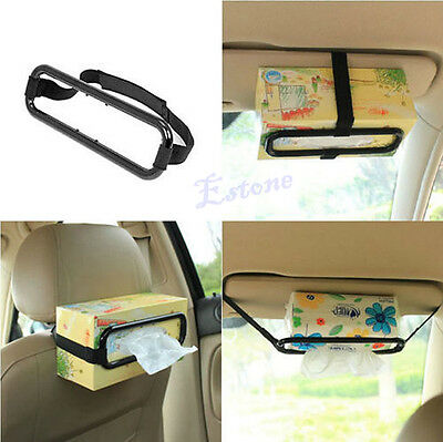 Car Sun Visor Tissue Paper Box Holder Auto Seat Back Accessories Clip Bracket