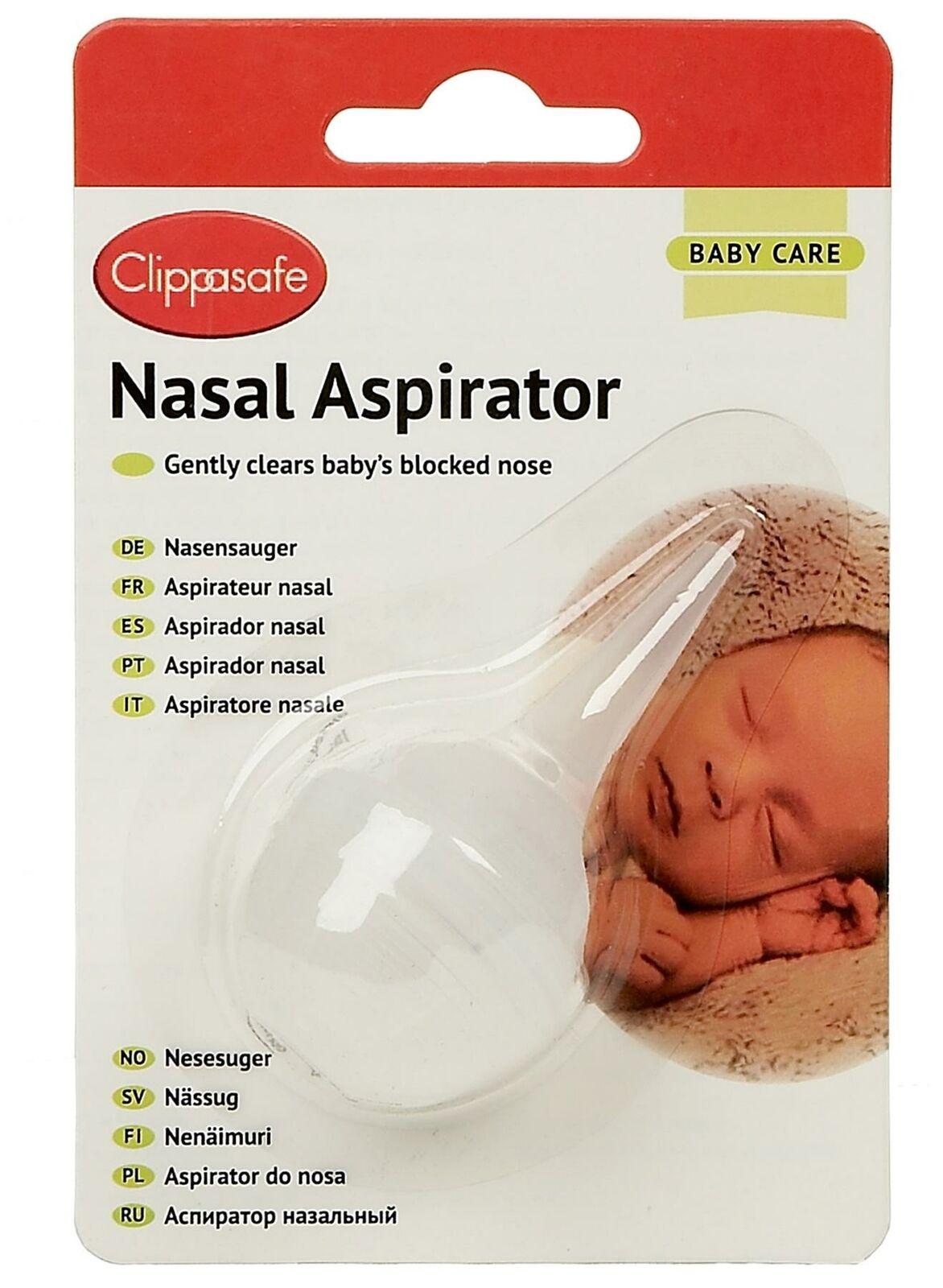 Clippasafe Aspirador nasal bebé niño seguridad BN