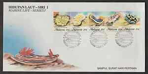 (F143)MALAYSIA 1988 MARINE LIFE 1ST SERIES FDC