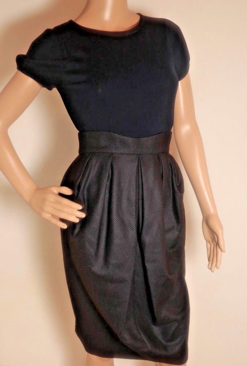 David Setzo 50s style navy balloon skirt