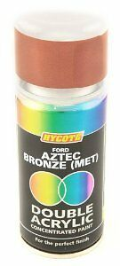 x6 - Double Acrylic Hycote Ford Paint Aztec Bronze Metallic 150ml XDFD101