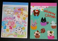 Kamio Japan Q-lia Kawaii Memo pad Stationery Twinkle Star Girl Whipped Cream LOT