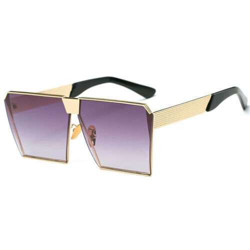 Women Oversized Square Sunglass Goggles Eye Protection Anti UV Clear Lens Beauty