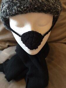 👃 Black Plain Nose Warmer Birthday Secret Santa Stocking Gift Idea. 👃