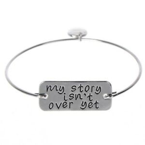 My-Story-Isn-039-t-Over-Yet-Bracelet-Mental-Health-Suicide-Awareness-Silver-Gold