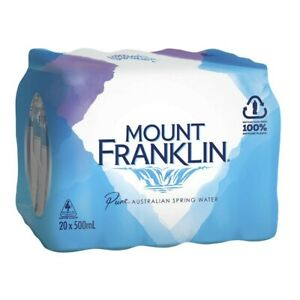 NEW-50-Pack-Mount-Franklin-Pure-Australian-Spring-Water-Bottle-500mL-Beverage