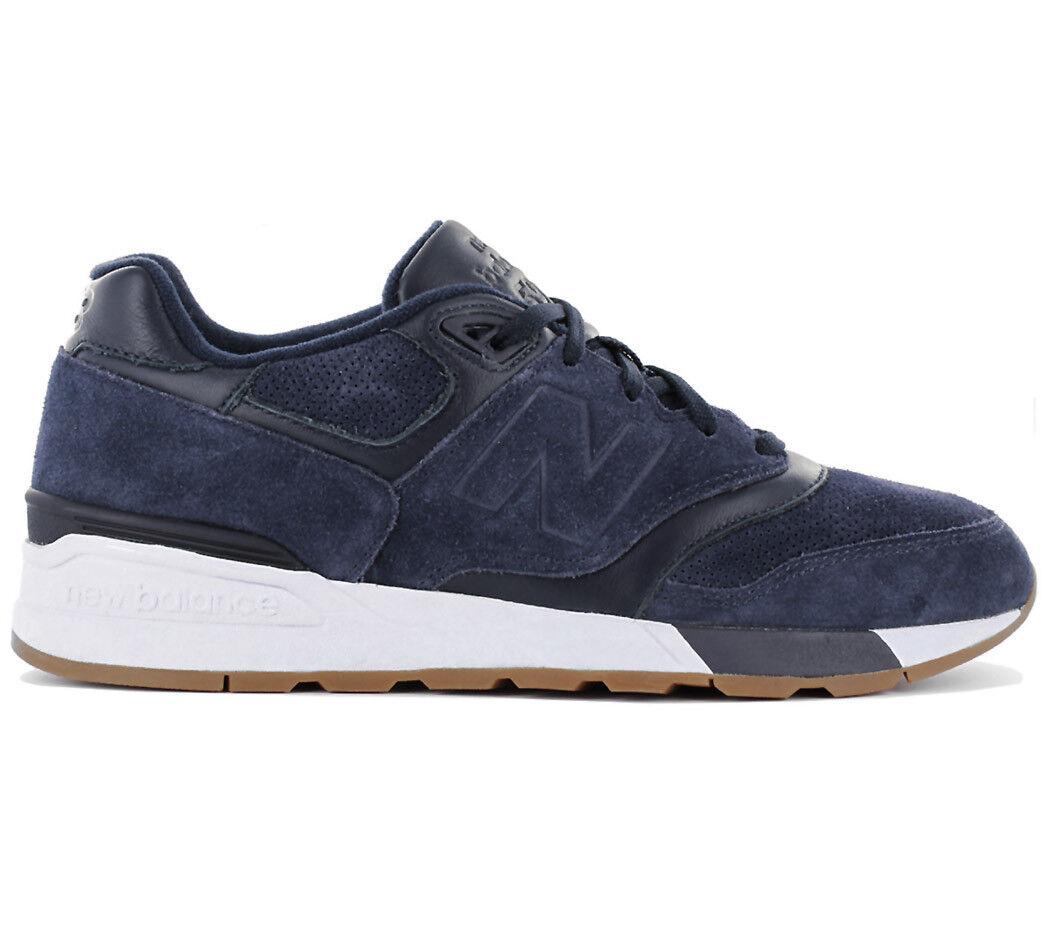 New Balance Classics 597 Leder Sneaker Blau Herren Schuhe 575 ML597SKF NEU