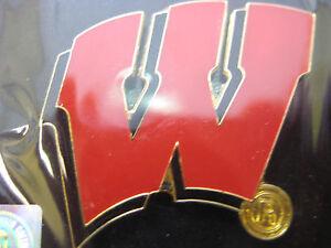 University Of Wisconsin Pin Logo Black Background Ebay