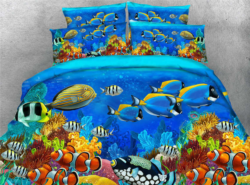 Coral Bush Busy 3D Printing Duvet Quilt Doona Covers Pillow Case Bedding Sets