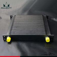 40 Row AN10 Aluminum Engine & Transmission Oil Cooler Black