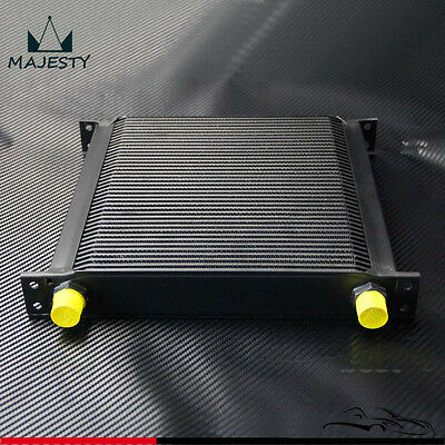 Aluminum 40 Row AN10 Engine /& Transmission Oil Cooler Black