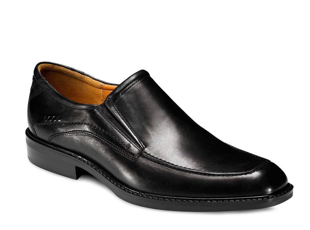 Ecco para hombre de cuero negro 51804 Windsor resbalón en el zapato