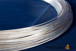 Fine Silver (999) Round Wire 0.25mm to 4.12mm. (Dead Soft)