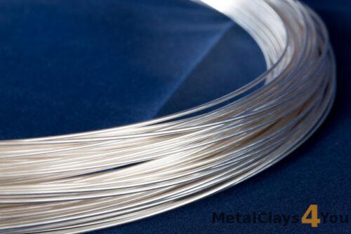 Round Wire 0.25mm to 4.12mm. Fine Silver 999 Dead Soft