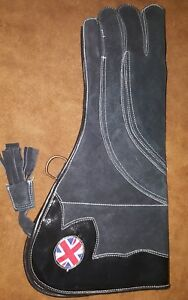 Falconry-Eagle-amp-Owls-Glove-With-UNION-JACK-3-Layers-Suede-Leather-16-Inches
