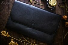 Wancher Japan Genuine Leather Handmade Fountain Pen Case 13 Pens Pouch