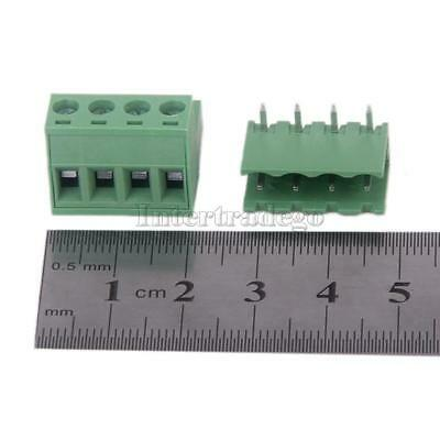 10x Angel 4 Pin Pitch 5.08mm Screw Terminal Block Connector Pluggable Type